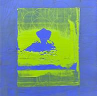 """""""Fin d'été 07"""" 2018, London, oil paint on paper, 16.1,2 X 12.1,4 in, 41 X 33 cm."""
