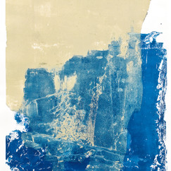 """ Série bestiaire 17 "" Arpaillargues, 2012, monotype on hand made paper, 1500 gm, 48 X 35 in, 120 X 86 cm, Editions Jacques Berville."