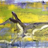 """""""Montagne Saint Victoire 01"""" 2020,  Oil on Linen, 110 x 160 cm, 44 x 64 in."""