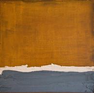 """Vague sur mer"" 2014, London, mixed media on Corten steel, 25 X 25 in, 63 X 63 cm."