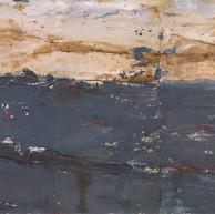 """""""Ciel, terre et mer""""  2010, Paris, mixed media on aluminium, 80 X 120 in, 200 X 300 cm, (Tryptich)."""