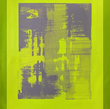 """Vortex 33 06_18"" London, oil paint on linen, 44 X 38 in, 110 X 95 cm."