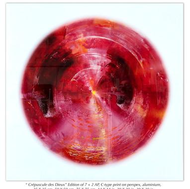 """"""" Crépuscule des Dieux"""" Edition of 7 + 2 AP, C-type print on perspex, aluminium,  35 X 35 cm, 50 X 50 cm, 75 X 75 cm, 14 X 14 in, 20 X 20 in, 30 X 30 in."""