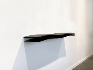 """Mini-Wave Console"" 01/12, 2020 Lacquered wood, 125 X 28 X 12 cm, 50 X 11 X 5 in."