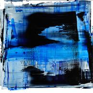 """ Untitled 08_2017"" 2017, London, oil paint on aluminium, 20 X 20 in, 50 X 50 cm."