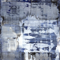 """Theme variation et resonnance 12_2017"" London, oil on wood, 28 X 21 in, 70 X 53 cm."