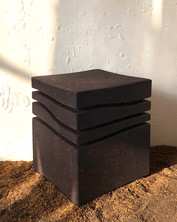 """Mini-Wave 101"" Stool, High density burnt cork 2020, London, Natural Cork,  42 X 35 X 35 cm, 16.1/2 X 13.3/4 X 13.3/4 in."