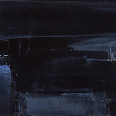 """ L'équilibre "" London, 2014, oil paint on wood, 9 X 20 in, 23 X 52 cm."