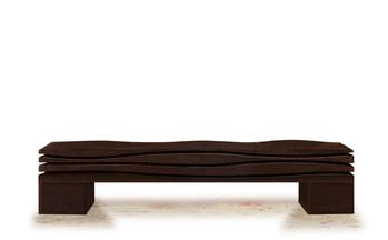 """The Wave Bis"" 2020, London, Dark Chocolate cork, 180 X 40 X 30 cm, 70 X 15 X 12 in."