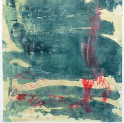 """"""" Série Bestiaire, 10 """" Arpaillargues, 2012, monotype on hand made paper, 2000 gm, 40 X 32 in, 100 X 80 cm, Editions Jacques Berville."""