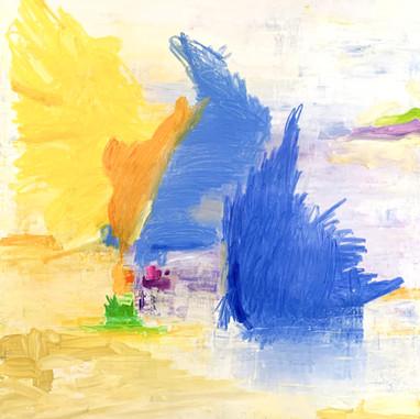 """""""Oblivion - Eveil"""" 2020, London, oil paint on linen, 190 X 150 cm, 75"""" X 59""""."""