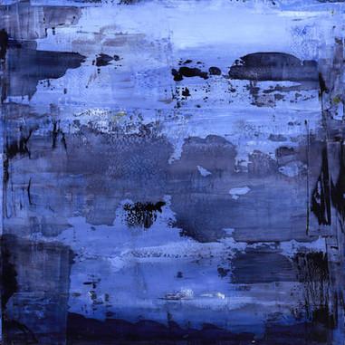 """""""Thème, variations et résonances 09_2017"""" oil paint on wood, 36 X 36 in, 90 X 90 cm."""
