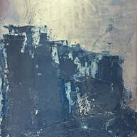 """""""Plaque B série Bestiaire 13"""" 2012, Arpaillargues, Carborundom on aluminium, 44 X 40 in, 110 X 100 cm."""