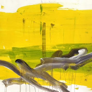 """Untitled 05"" 2020, Uzès, Oil on Linen, 110 x 160 cm, 44 x 64 in."