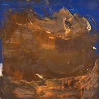 """Storm over sea, Apocalypse 01"" 2013, London, mixed media on aluminium, 18 X 18 in, 45 X 45 cm."