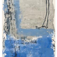 """""""La terre et l'eau"""" Arpaillargues, 2008, Monotype carborundum on Arche paper, 600 gm, Edition Berville, 24 X 34 in, 60 X 90 cm."""
