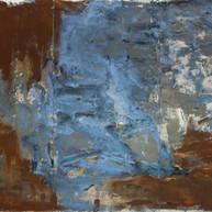 """Cala Figuera, Mallorca"" 2019, mixed media on aluminium, 80 X 120 in, 200 X 300 cm (triptych)."
