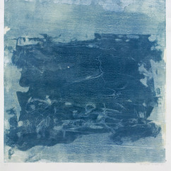 """""""Série bestiaire 16"""" Arpaillargues, 2012, monotype on hand made paper 2000 gm 40 X 32 in, 100 X 80 cm, Editions Jacques Berville"""