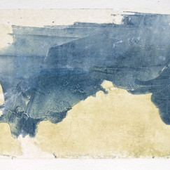 """""""Série bestiaire 05"""" Arpaillargues, 2012, monotype on han made paper, 1200 gm, 27 X 45 in, 67 X 113 cm, Editions Berville."""