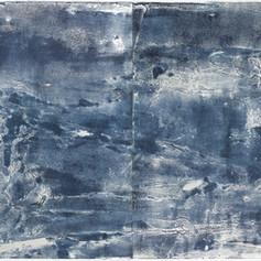 """ Série bestiaire 08 "" Arpaillargues, 2012, monotype on hand made paper, Diptyc, 46 X 52 in, 115 X 130 cm, Editions Jacques Berville."