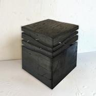 """Mini Wave"" London, 2020, Hard coal, Anthracyte, 17 X 14 X 14 in, 42 X 35 X 35 cm."