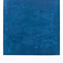 """""""Japanese Fish"""" Arpaillargues, 2012, monotype, Editions Jacques Berville, 32 X 24 in, 80 X 61 cm."""