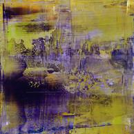 """""""Série Suzon Ouverture 01"""" 2016, oil paint on wood, 12 X 12 in, 30 X 30 cm."""