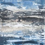 """""""Arpaillargues Summer 2010"""" Carborundum, sand oil ink on aluminium, 80 X 56 in, 200 X 140 cm."""
