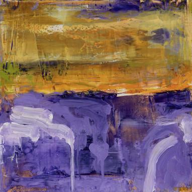 """"""" Vallée des Dieux """" 2015, Suzon, oil paint on wood, 12 X 12 in, 30 X 30 cm."""