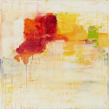 """"""" Sentier perdu """" Suzon, 2015, oil paint on linen, 40 X 40 in, 102 X 102 cm."""
