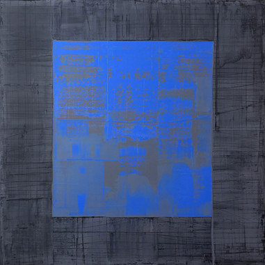 """Vortex # 10, 05_2018"", London, oil paint on linen, 60 X 60 in, 150 X 150 cm."