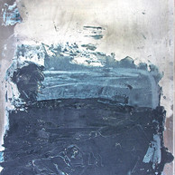 """""""Plaque A série Bestiaire 13"""" 2012, Arpaillargues, Carborundom on aluminium, 44 X 40 in, 110 X 100 cm."""