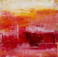 """"""" Crépuscule des Dieus 02 """" 2015, Suzon, oil paint on wood, 20 X 20 in, 50 X 50 cm."""