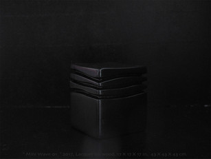 """Mini Wave black 01"" 2018, Lacquered wood, 17 X 14 X 14 in, 42 X 35 X 35 cm."
