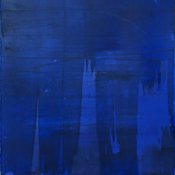 """"""" Thème, Variations et résonances 27"""" 2017, London, oil paint on linen, 38 X 33 in, 95 X 84 cm."""