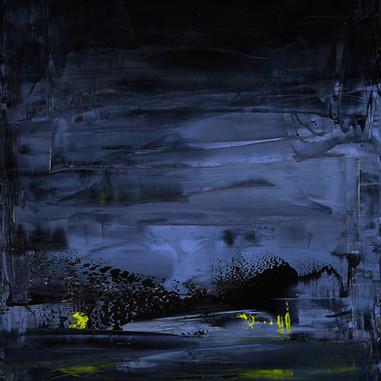 """""""Lumiére sur fond de mer 01"""" London, 2015,  oil paint on wood, 40 X 17 in, 100 X 43 cm."""