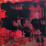 """ Variations 120 "" 2017, London, oil paint on aluminium, 20 X 20 in,  50 X 50 cm."
