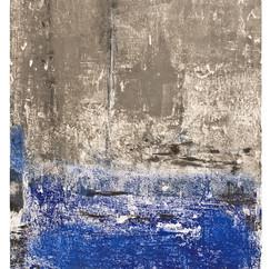 """Image Celeste 17"" Arpaillargues, 2008, monotype corborundum, Editions Berville, 41 X 31 in, 105 X 80 cm."