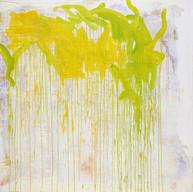 """"""" Résonances 01 """" London 2016 , oil paint on linen, 80 X 80 in, 200 X 200 cm."""