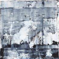 """""""Thème, variations et résonances 8_2017"""" London, oil paint on wood, 36 X 36 in, 90 X 90 cm."""