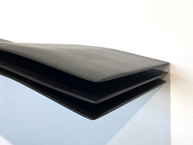 """""""Mini-Wave Console"""" 01/12, 2020 Lacquered wood, 125 X 28 X 12 cm, 50 X 11 X 5 in."""