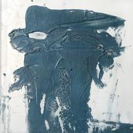 """Plate 01 for Japanese bestiare 02"" 2012, Arpaillargues, carborundom, oil ink on aluminium, 31 X 23 in, 78 X 57 cm."