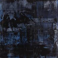 """""""Thème, variations et résonances 37"""" 2017,  London, oil paint on wood 20 X 20 in, 50 X 50 cm."""