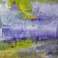 Jardin de printemps, London, 2015, oil paint on wood, 12 X 12 in, 30 X 30 cm.