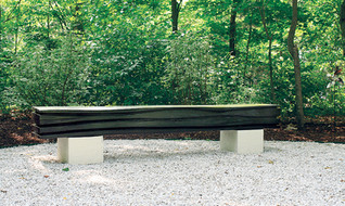 """The Wave 01, CT, US"" 2010, Canadian red Oak, concret base, 106 X 19.5 X 15.5 inch, 270 X 50 X 40 cm."