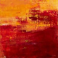 """"""" Vent des sables, Maroc """" Suzon, 2014, oil paint on wood, 16 X 16 in, 40 X 40 cm."""