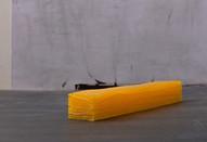 """Wave 01, wax model"" 2010, Paris, 12 X 1.5 X 1 in, 30 X 3 X 2.5 cm."