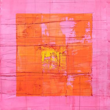 """Vortex 09"" 2018, London, oil paint on linen, 35 X 35 in, 90 X 90 cm."