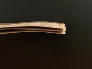 """Mini Wave Console 11"" 2020, London, birch plywood, 175 X 29 X 15 cm, 69"" X 11"" X 6""."