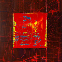 """Virtuose 06"" 2018, London, oil on paper, 18.5 X 15.2 in, 46 X 38 cm."